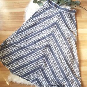 ☆VINTAGE☆ A-Line High Waisted Chevron Skirt